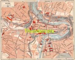 ANCIENNE PETIT PLAN COUPURE DEPLIANT HACHETTE  15 CM X 18 CM BERN BERNE TRAMWAYS - Cartes Routières