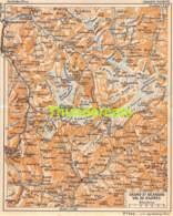 ANCIENNE PETIT PLAN COUPURE DEPLIANT HACHETTE  15 CM X 18 CM GRAND ST BERNARD VAL DE BAGNES - Strassenkarten
