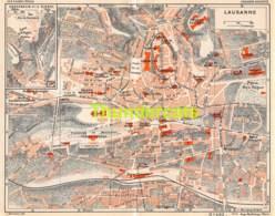 ANCIENNE PETIT PLAN COUPURE DEPLIANT HACHETTE  15 CM X 18 CM LAUSANNE - Strassenkarten