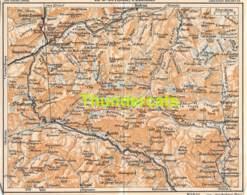 ANCIENNE PETIT PLAN COUPURE DEPLIANT HACHETTE  15 CM X 18 CM ST GOTHARD L'OBERALT - Cartes Routières