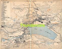 ANCIENNE PETIT PLAN COUPURE DEPLIANT HACHETTE  15 CM X 18 CM ST MORITZ DORF - Cartes Routières