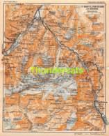 ANCIENNE PETIT PLAN COUPURE DEPLIANT HACHETTE  15 CM X 18 CM ST MORITZ PONTRESINA LA BERNINA - Cartes Routières