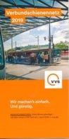 BRD Stuttgart Verbundschienennetz VVS 2019 U-Bahn S-Bahn Strassenbahn Eisenbahn - Europa