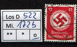 Los D522: DR Mi. 172 B, Gest. - Oficial