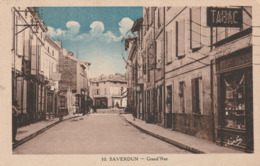 Carte Postale Ancienne De L'Ariège - Saverdun - Grand'rue - Devantures - Andere Gemeenten