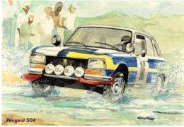 Peugeot 504 Rallye   -  Art Card By Gérard Crevon De Blainville  -  CPM - Passenger Cars