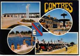 41 Contres 4 Vues Blason CEG Fontaine Piscine Plongeoir Course Autos Anciennes Les 3 Heures Stand Pére-Cédès !! - Contres