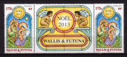 Wallis Et Futuna 2013 - Noël 2013 - Paire Avec Vignette Central Neufs // Mnh - Unused Stamps