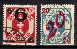 Danzig 1922 Mi 106-107, Gestempelt [070919VII] - Danzig