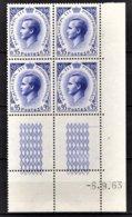 MONACO 1960 - BLOC DE 4 TP COIN DE FEUILLE / DATE / N° 549A - NEUFS ** - Mónaco