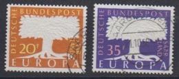 Europa Cept 1957 Saarland 2v Used (44625) - 1957