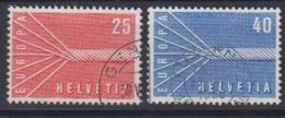 Europa Cept 1957 Switzerland 2v Used (44625C) - Europa-CEPT