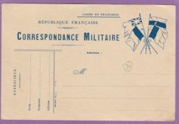 CARTE EN FRANCHISE,CORRESPONDANCE MILITAIRE, NEUVE. - Marcophilie (Lettres)
