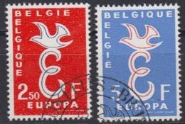Europa Cept 1958 Belgium 2v Used (44625F) - Europa-CEPT