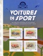 France  - Voitures De Sport  -  Bugatti T35-Ferrari 500 Mondial-Mini Cooper-Peugeot 504 - 4v Sheet Neuf/Mint/MNH - Automobile