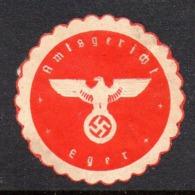 GERMANY WW2 3RD THIRD REICH AMTSGERICHT EGER OFFICIAL COURT SIEGELMARKE NAZI GERMAN MARQUE SEAL CHEBSKO EGERLAND - Cartas