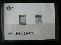 Feuillet Noir & Blanc EUROPA, Timbres N° 2555/2556, Très Bien - Feuillets Noir & Blanc