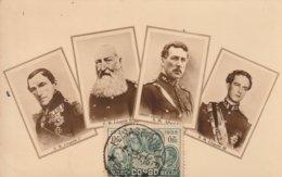 Carte Maximum  -  S.M. Léopold 1er - Léopold II Albert Et S.M. Léopold III - Congo Belge - Autres