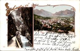 Ragaz - Taminaschlucht - Lithographie Mit 2 Bildern (211) * 16. 9. 1903 - SG St. Gallen