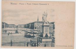 Torino , Piazza E Ponte Vittorio Emanuele I° Con Tram A Cavalli , Ediz. Kunzli N.2438  - F.p. - Fine '1800 - Bridges