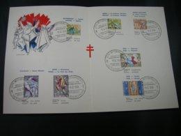 "BELG.1959 1114/1120 FDC Filatelic Card :"" Antiteringszegels,Belgische Legenden / Antituberculeux ,folklore Belges "" - FDC"