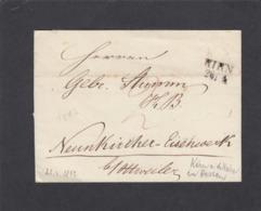 BELEG VON KIRN AN DER NAHE AN DEN GEBRÜDER STUMM, EISENWERK IN NEUN KIRCHEN/SAAR.26-4-1842. - Germany