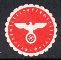 GERMANY WW2 3RD THIRD REICH REICHS WIRTSCHAFTS MINISTERIUM REICH'S ECONOMIC MINISTRY SIEGELMARKE NAZI GERMAN MARQUE SEAL - Cartas