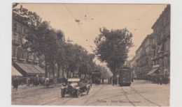 Torino , Corso Vittorio Emanuele , Tram Elettrici E Autovettura In Primo Piano , Ediz. Brunner  - F.p. - Anni '1910 - Trasporti