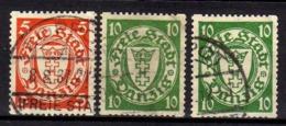 Danzig 1932 Mi 193-194 A; 194 B D, Gestempelt [070919VII] - Danzig