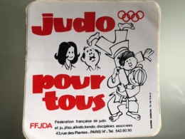1 Autocollant Judo FFJDA - Sports De Combat