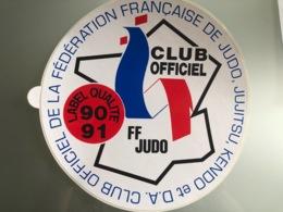 Autocollant Judo FFJDA Label - Sports De Combat