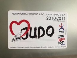 Licence Vierge Judo FFJDA 2010 - Sports De Combat