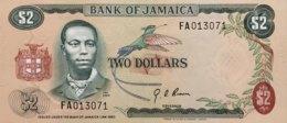 Jamaica 2 Dollars, P-58 (1973) - UNC  - FAO Commemorative Issue - Jamaica