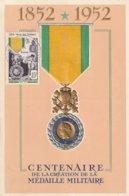 Carte Maximum -  Centenaire De La Création De La Médaille Militaire - Somalie