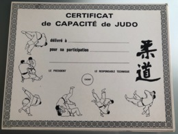 Diplôme Ancien Judo FFJDA - Martial Arts
