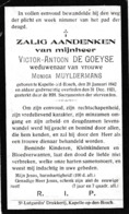 Capellen-op-den-Bosch, Kapelle-op-den-Bos, 1921, Victor De Goeyse, Muyldermans - Images Religieuses