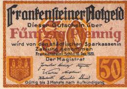 50pfg. Notgeld Stadt Frankenstein UNC (I) - [11] Emissions Locales