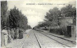 A3 BDR 13 ENTRESSEN La Gare Arrivée Du Train De Miramas N'a Pas Circulé TBE - Francia