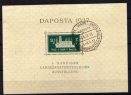 Danzig 1937 Mi Block 1, Gestempelt Mit SST [070919VII] - Danzig