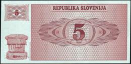 SLOVENIA - 5 Tolarjev 1990 {Republika Slovenija} UNC P.3 - Slovenia