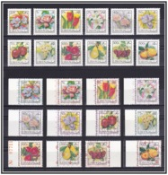 Lebanon - 1973-1978 ( Fruits & Flowers ) - 2 Complete Set - Original & Overprinted Set - MNH (**) - Lebanon