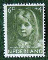 6 + 4 Ct Kinderzegel Child Welfare Kinder Enfant NVPH 703 (Mi 708) 1957 Gestempeld / Used NEDERLAND / NIEDERLANDE - Used Stamps