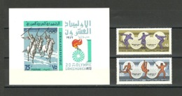 Syria - 1972 - Sports - ( Olympic Games, Munich ) - Set Of 2 With S/S - MNH** - Syrie