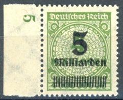 Nr. 333 W Postfrische Randmarke Geprüft - Ungebraucht