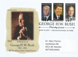 USA 2019 College Station President George Bush Ronald Reagan Gerald Ford FDC Cover - Eerste Uitgaves (FDC)