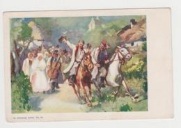 OR713 - UKRAINE - Scène Et Type - Illustration Signée (à Identifier) - Habits Traditionnels Et Chevaux - Altenberg -Lwow - Oekraïne