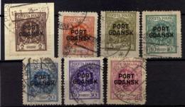Danzig (Port Gdansk) Mi 2-5; 7; 9; 11, Gestempelt [070919VII] - Danzig