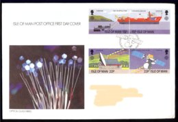 Isle Of Man Yv 367/70 ,Europa 1988,transport Et Communication. FDC.circulé - Europa-CEPT