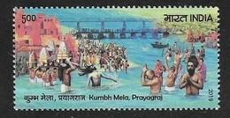 INDIA, 2019, MNH, RELIGIONS, HINDUISM, CELEBRATIONS, KUMBH MELA , PRAYAGRAJ, BRIDGES, BOATS,1v - Celebrations