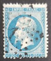 1862, Emperor Napoléon Lll, 20c, Empire Française, France - 1862 Napoléon III
